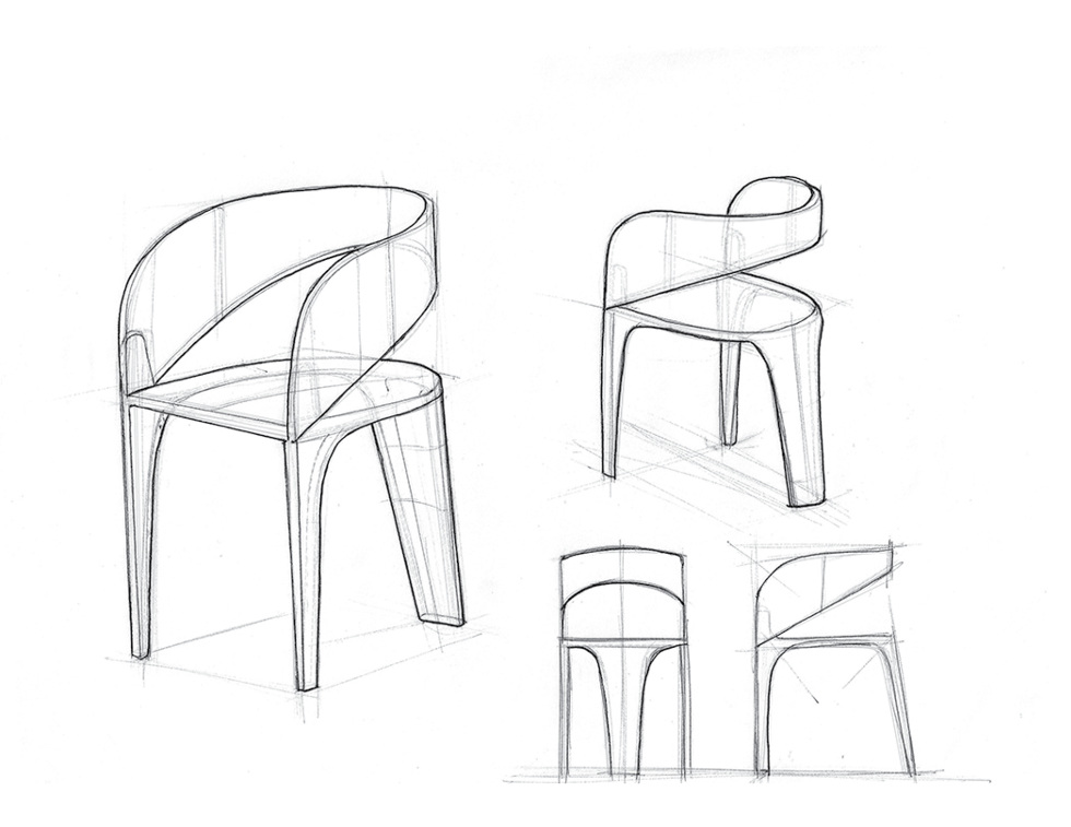Chair Design Sketches T